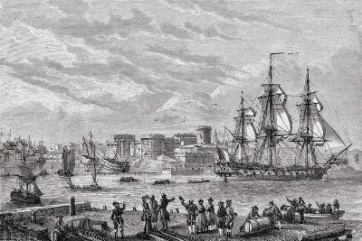Brest in 1791, Engraved by Le Breton, from 'Histoire De La Revolution Francaise' by Louis Blanc…--Giclee Print