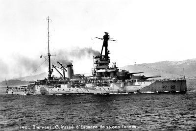Bretagne' French Dreadnought of 25,000 Tons, C1915-1940--Giclee Print