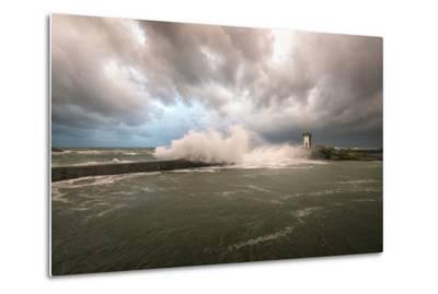Bretagne, Sea Wall-Philippe Manguin-Metal Print