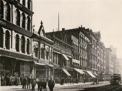 Bretano's and Other Retail Shops on Wabash Avenue South of Monroe Street, Chicago, 1890s--Giclee Print