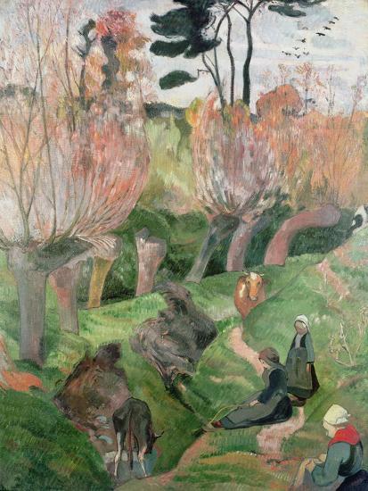 Breton Landscape, 1889-Paul Gauguin-Giclee Print