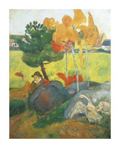 Breton Landscape-Paul Gauguin-Premium Giclee Print