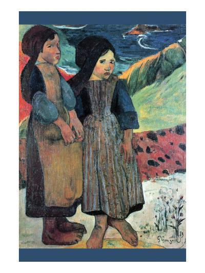 Breton Near Sea-Paul Gauguin-Art Print