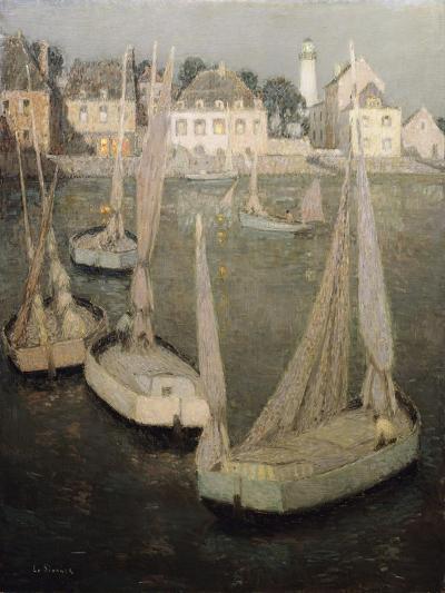 Breton Port by Moonlight-Henri Eugene Augustin Le Sidaner-Giclee Print