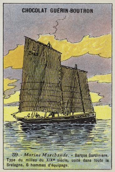 Breton Sardine Fishing Boat, Mid 19th Century--Giclee Print