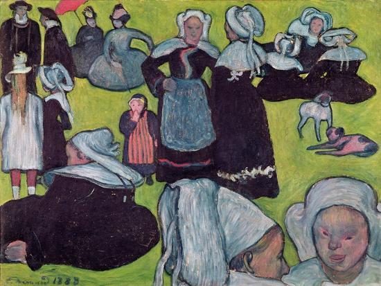 Bretons in a Field Or, the Pardon, 1888-Emile Bernard-Giclee Print