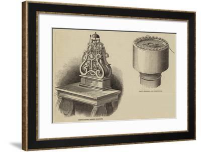 Brett's Subterranean and Ocenic Electric Printing Telegraph--Framed Giclee Print