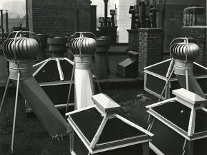 Air Vents On Rooftop, New York, 1946 by Brett Weston