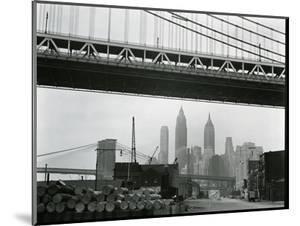 Bridge and Skyline, New York, c. 1945 by Brett Weston