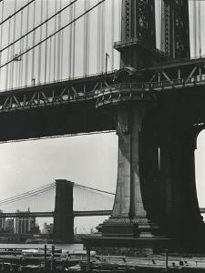 Brooklyn Bridge and Manhattan Bridge, New York, c. 1946 by Brett Weston