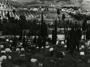 Cemetery, Landscape, Spain, c.1960 by Brett Weston