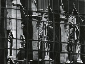 Church, Reflections, New York, 1980 by Brett Weston