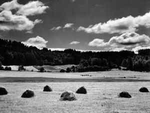 Haystacks, Landscape, Europe, 1968 by Brett Weston