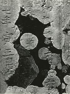 Headstone and Lichen, Japan, 1970 by Brett Weston