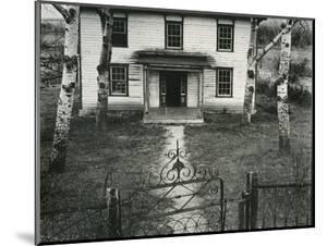 House, Trees, Gate, c. 1950 by Brett Weston