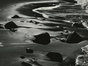 Rocks, Water, Coast, California, 1975 by Brett Weston
