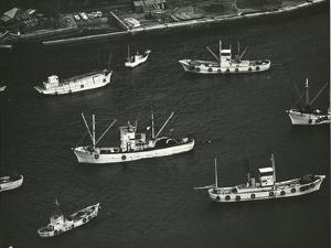Ships, Japan, 1970 by Brett Weston
