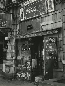 St. Francis Grocery, New York, 1943 by Brett Weston
