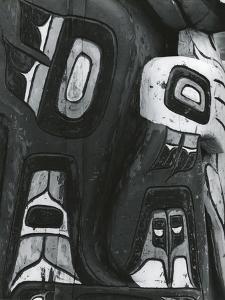 Totem Pole Detail, Alaska, 1977 by Brett Weston