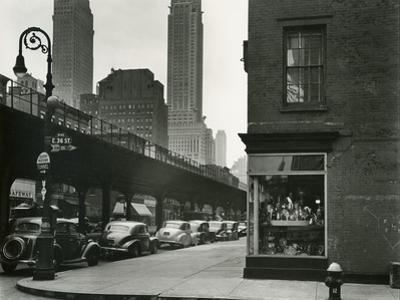 Train Overpass, New York, 1943 by Brett Weston