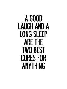 A Good Laugh and a Long Sleep by Brett Wilson
