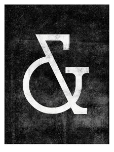 Ampersand Deco on Black by Brett Wilson
