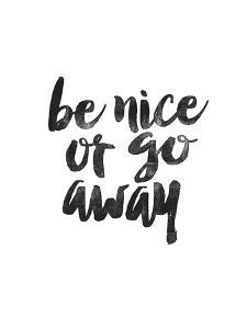Be Nice or Go Away by Brett Wilson