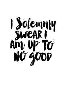 I Solemnly Swear I Am Up to No Good by Brett Wilson