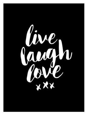 Live Laugh Love Blk by Brett Wilson