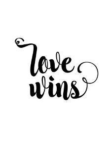 Love Wins Cursive by Brett Wilson