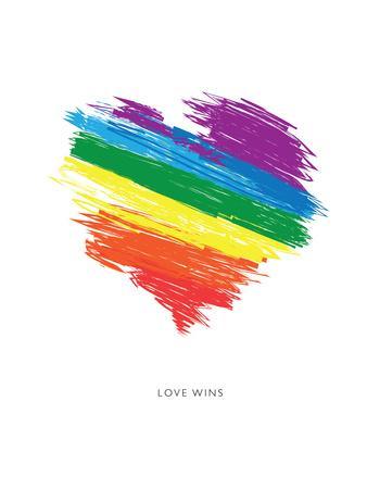 Love Wins Rainbow Scrawl