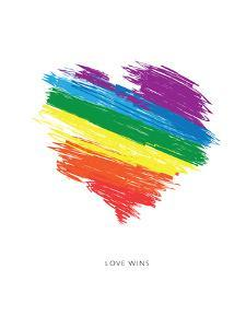 Love Wins Rainbow Scrawl by Brett Wilson