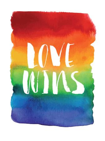 Love Wins Watercolor Rainbow