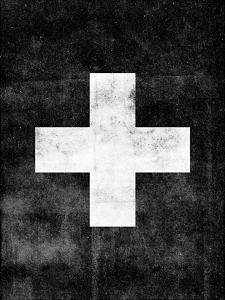Swiss Cross on Black by Brett Wilson