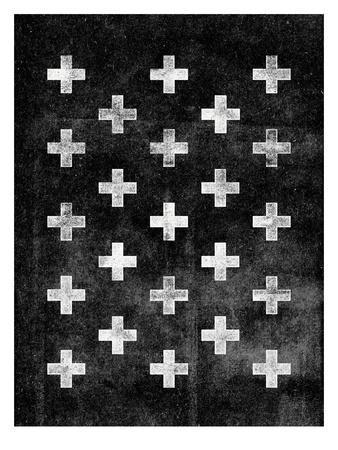 Swiss Cross Pattern BLACK