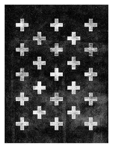 Swiss Cross Pattern BLACK by Brett Wilson