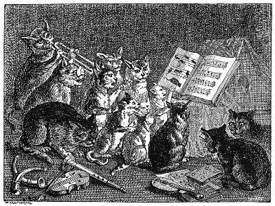 Breughel: Concert of Cats--Giclee Print