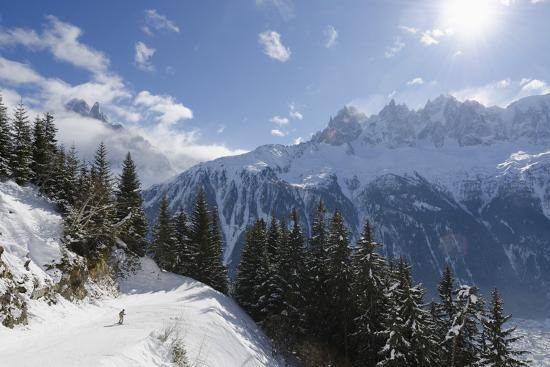 Brevant Ski Area, Aiguilles De Chamonix, Chamonix, Haute-Savoie, French Alps, France, Europe-Christian Kober-Photographic Print