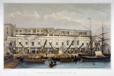 Brewer's Quay, Chester Quay and Galley Quay, Lower Thames Street, City of London, 1841-Thomas Hosmer Shepherd-Giclee Print