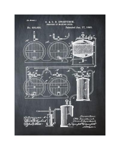 Brewery Patent 1891 Chalk-Bill Cannon-Giclee Print