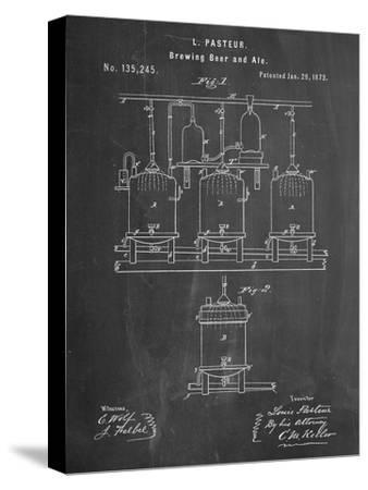 Brewing Beer Patent--Stretched Canvas Print