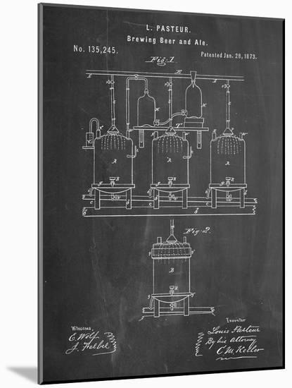 Brewing Beer Patent--Mounted Art Print