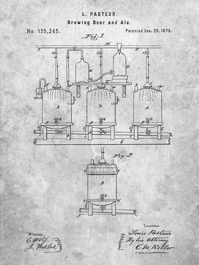 Brewing Beer Patent-Cole Borders-Art Print