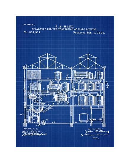 Brewing Malt Liquors 1894 Blue-Bill Cannon-Giclee Print