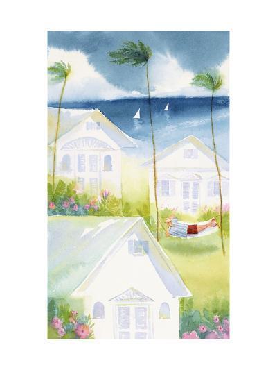 Brewsing Storm in Seaside Town--Art Print