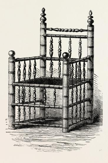 Brewster's Chair, Preserved at Pilgrim Hall, New Plymouth, USA, 1870S--Giclee Print