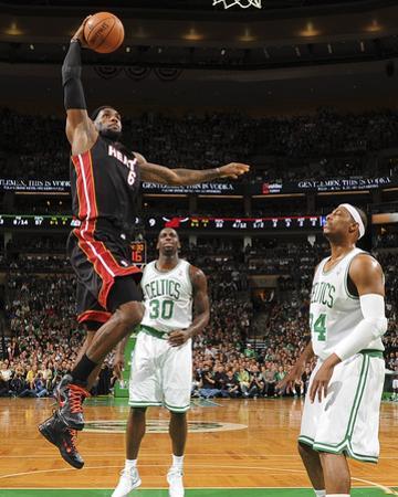 Boston, MA - June 3: LeBron James and Paul Pierce