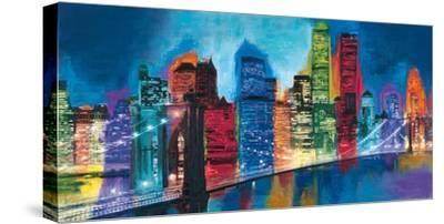 Abstract NYC Skyline at Night