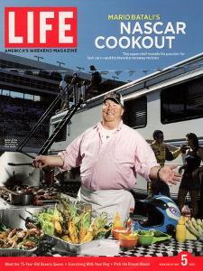 Chef Mario Batali Preparing a NASCAR Cookout at Texas Motor Speedway, May 5, 2006 by Brian Finke