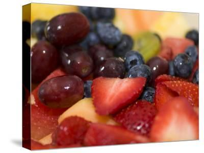 A Fresh Fruit Salad of Mixed Berries and Melon